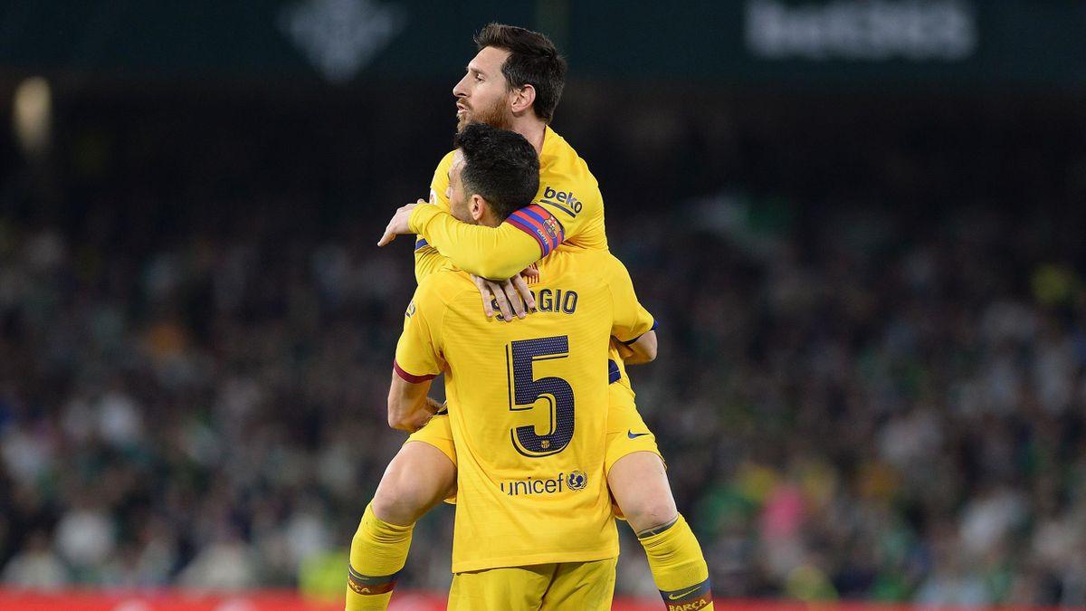 Lionel Messi, Sergio Busquets - Betis-Barcelona - Liga 2019/2020 - Getty Images