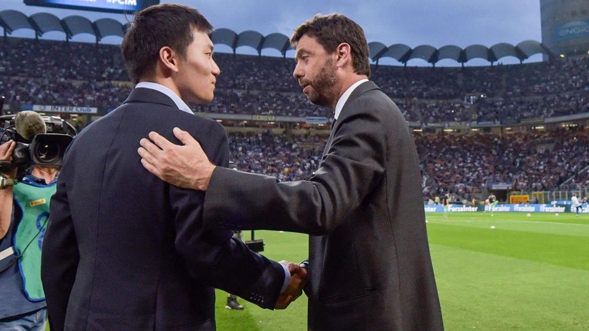 Agnelli e Zhang - Juventus-Inter - Serie A 2019-2020