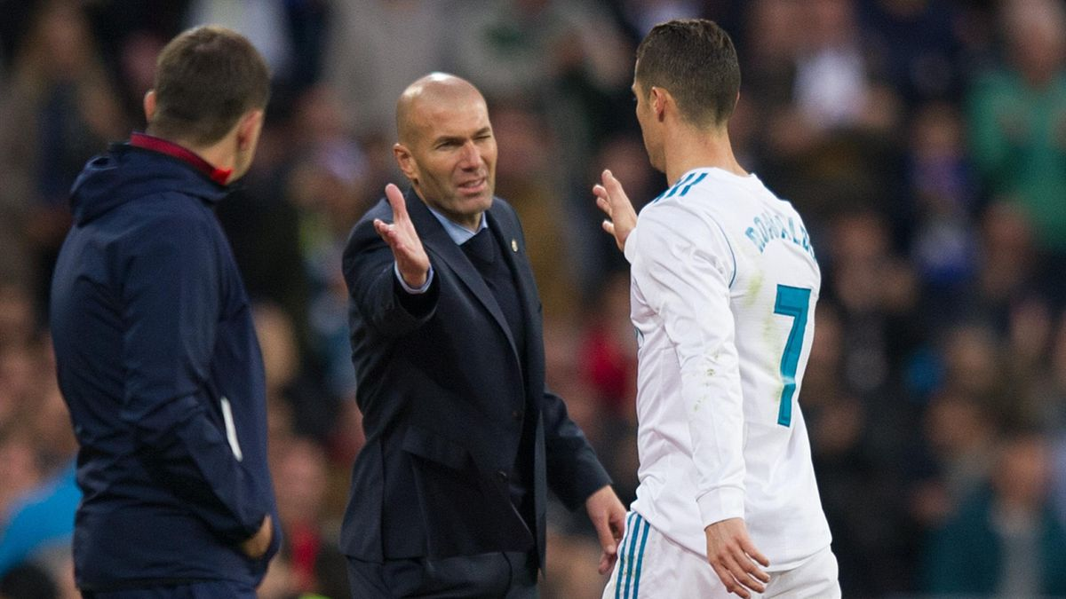 Zinedine Zidane et Cristiano Ronaldo (Real Madrid)