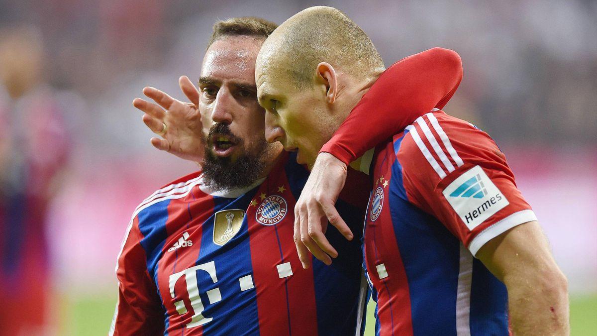 Franck Ribéry et Arjen Robben (Bayern)