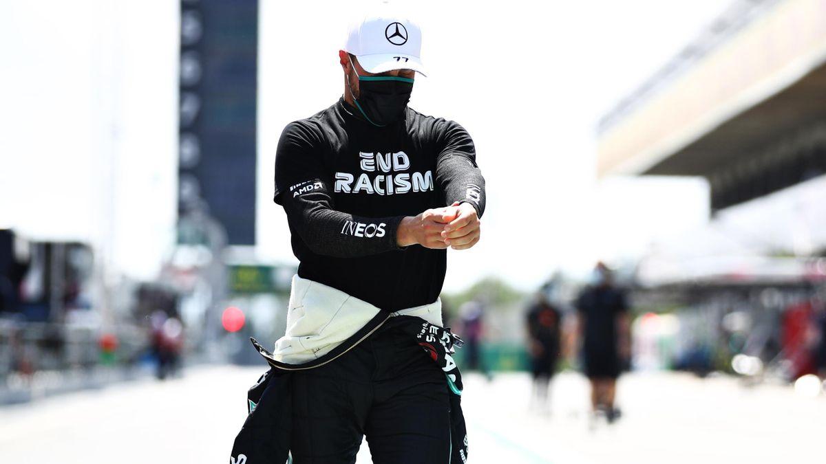 Mercedes driver Valtteri Bottas at the Spanish GP