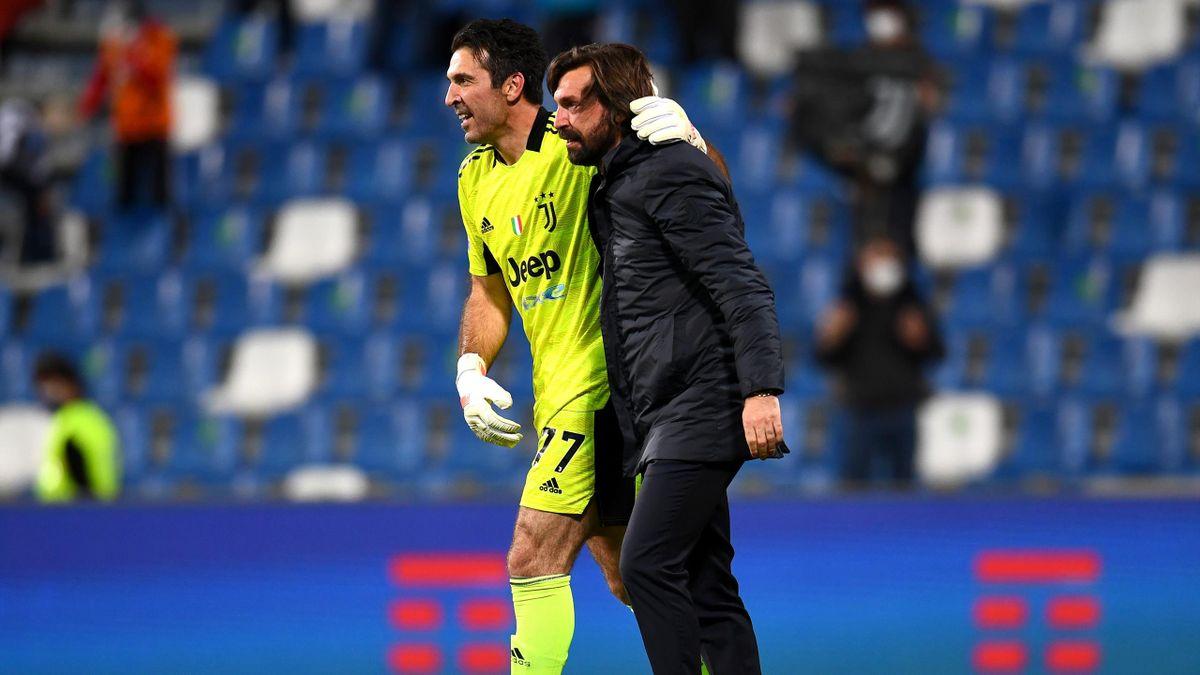 Buffon und Pirlo (Juventus)