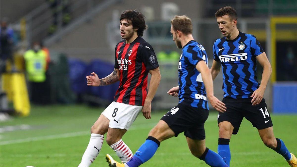 Sandro Tonali e Christian Eriksen - Inter-Milan Serie A 2020-21