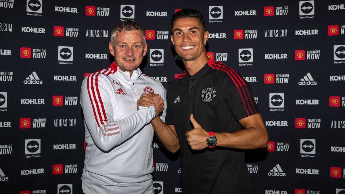 Уле-Гуннар Сульшер и Криштиану Роналду, «Манчестер Юнайтед»