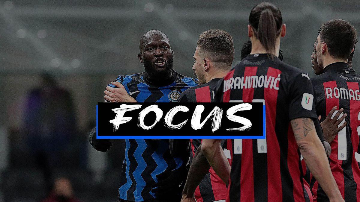 Romelu Lukaku e Zlatan Ibrahimovic nella lite avuta nel derby Inter-Milan di Coppa Italia, Getty Images