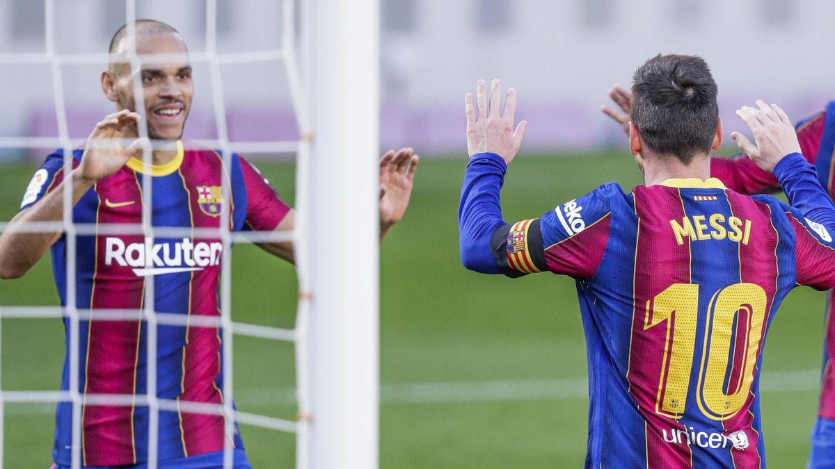Martin Braithwaite, Leo Messi (FC Barcelona)
