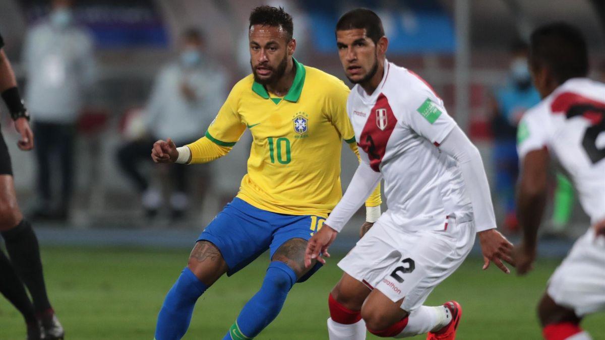Neymar, en el Perú-Brasil de clasificación Conmebol