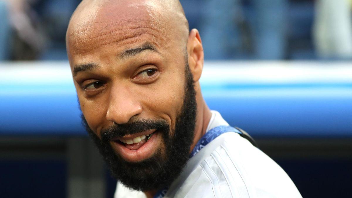 Thierry Henry pendant la Coupe du monde où il était entraineur adjoint de la Belgique