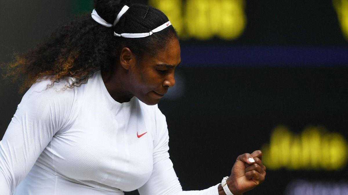 Serena Williams lors de sa demi-finale contre Julia Görges