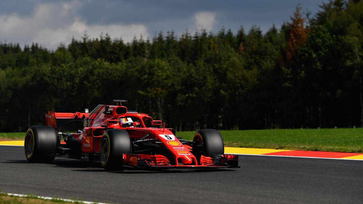 Sebastian Vettel in Spa