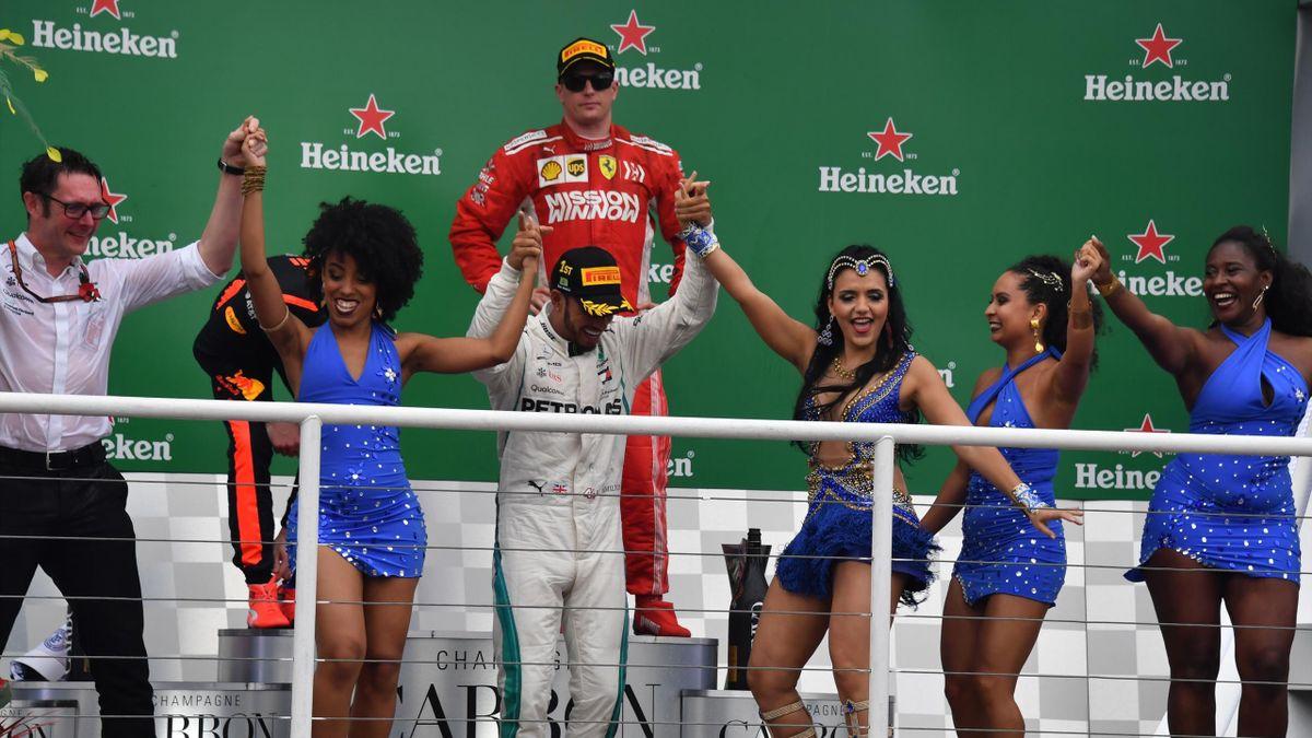 Kimi Räikkönen (Ferrari) au Grand Prix du Brésil 2018