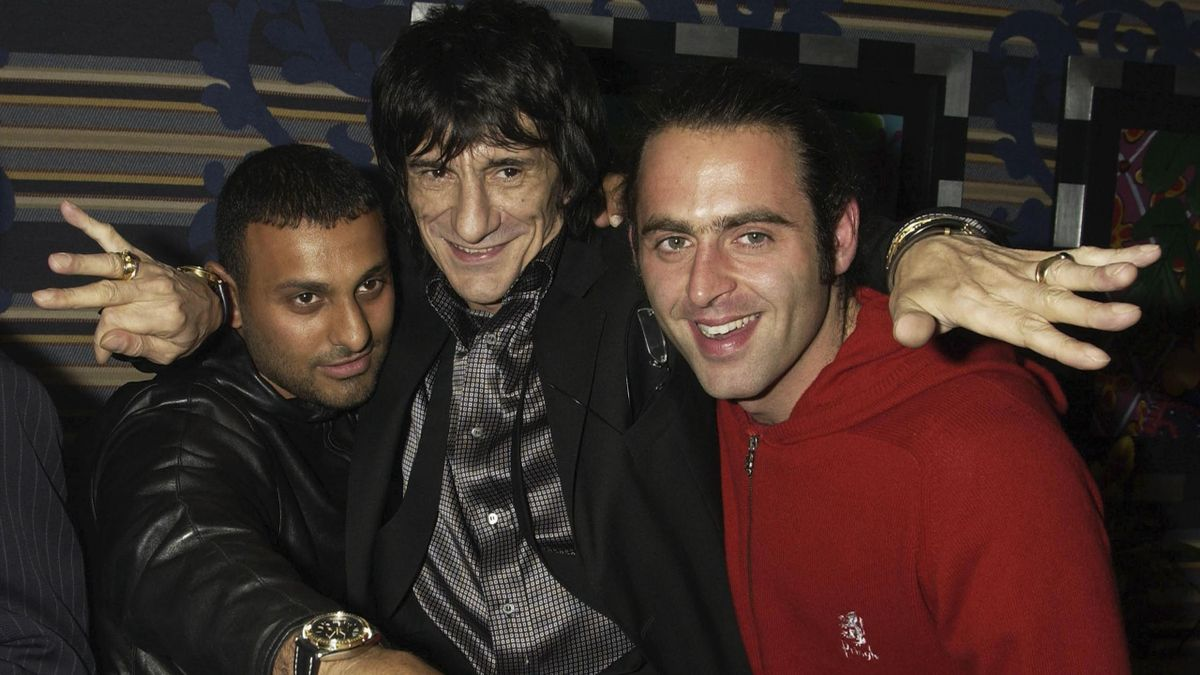 Prince Naseem Hamed, Ronnie Wood and Ronnie O'Sullivan in 2004