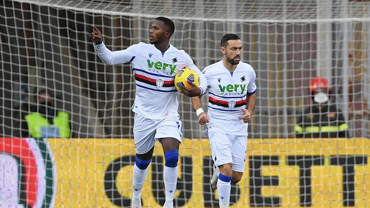 Keita Balde esulta dopo il gol, Benevento-Sampdoria, Getty Images
