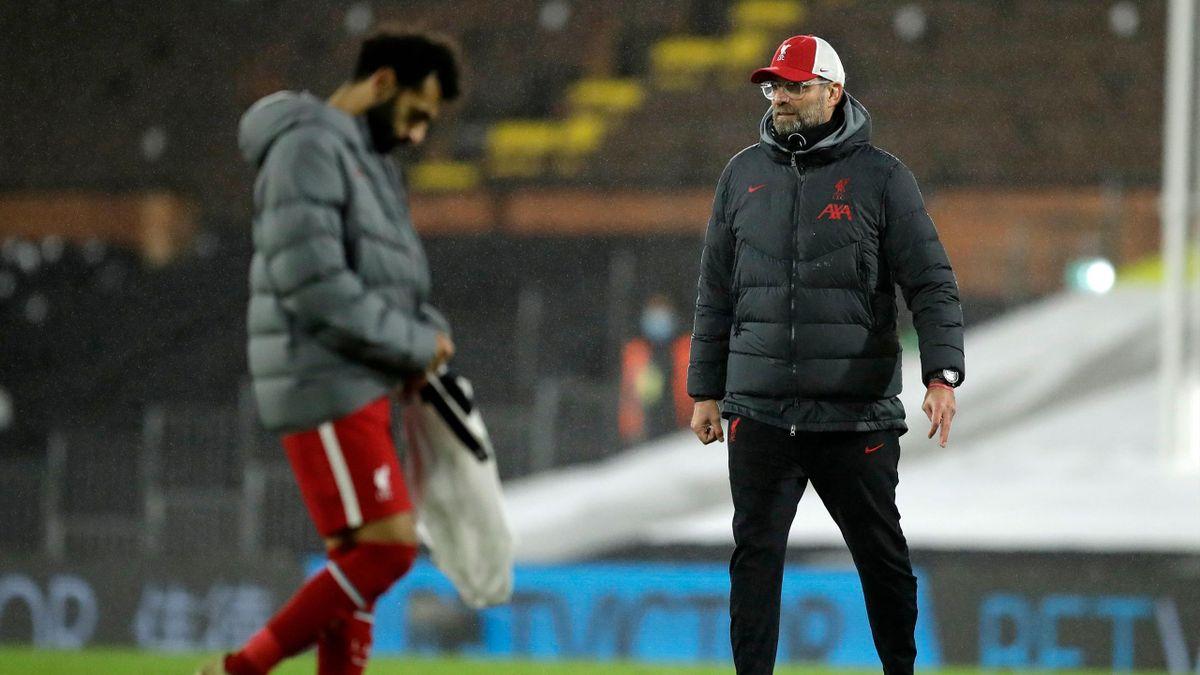 Mohamed Salah (links) und Jürgen Klopp - FC Liverpool