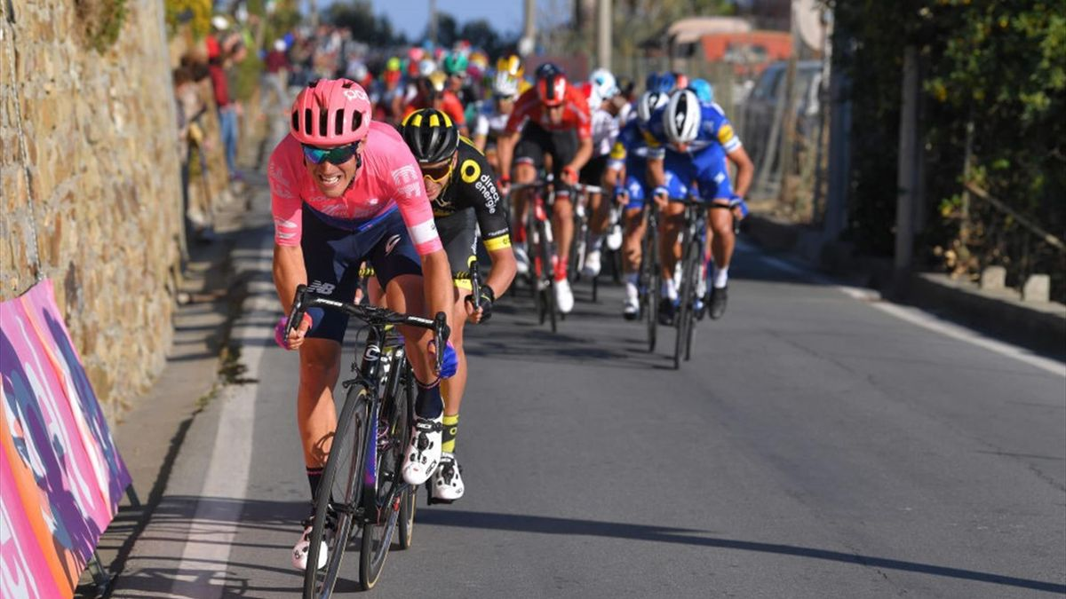 Alberto Bettiol of Italy and Team EF Education First / Poggio di San Sanremo (160m)/ during the 110th Milan-Sanremo 2019 a 291km race from Milan to Sanremo / @Milan_Sanremo / on March 23, 2019 in Sanremo, Italy.