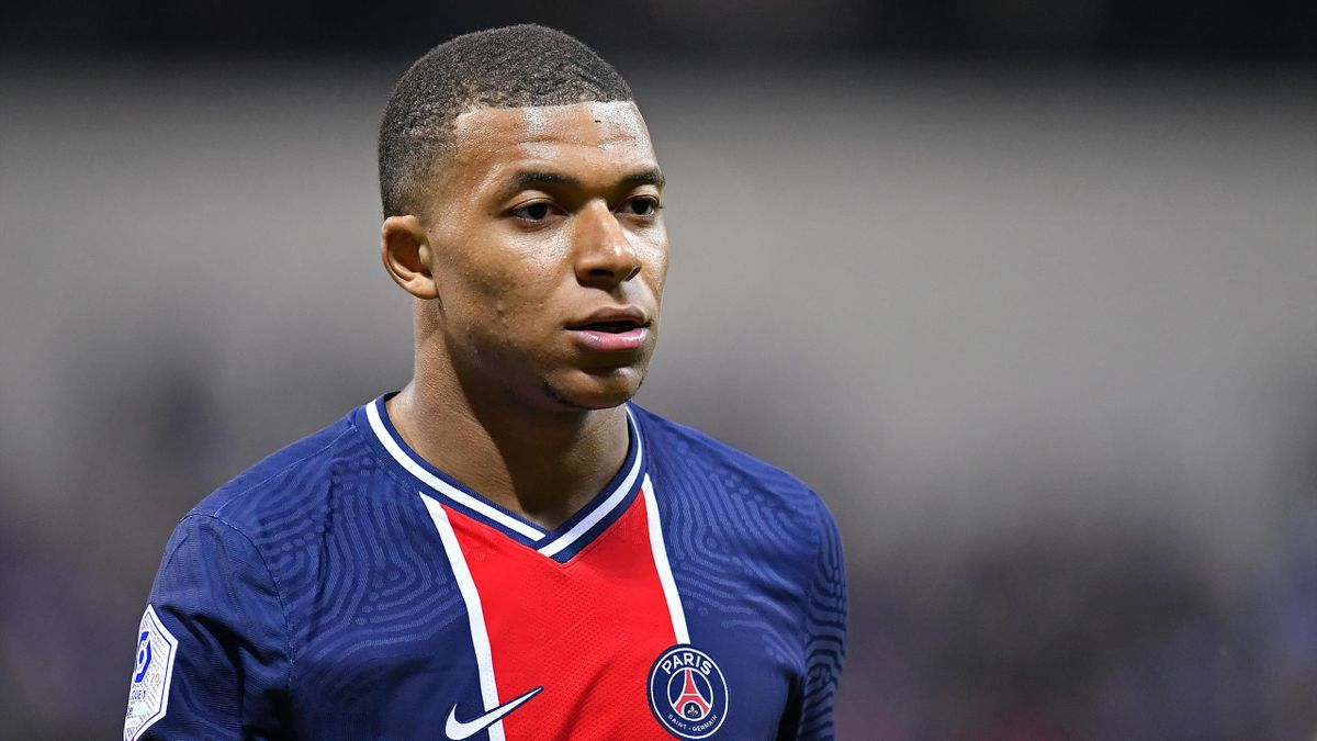 Kylian Mbappé lors du match opposant le Stade de Reims au Paris Saint-Germain, le 27 septembre 2020, en Ligue 1