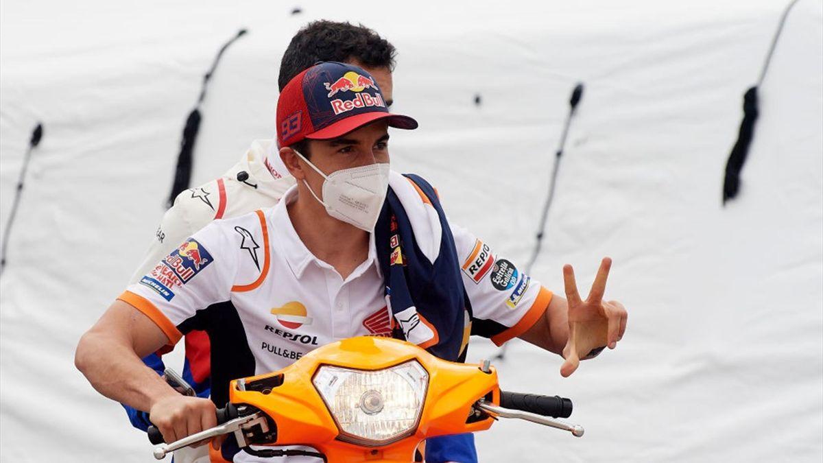 Marc Marquez si prepara al GP del Portogallo, terza gara del Mondiale 2021 di MotoGP
