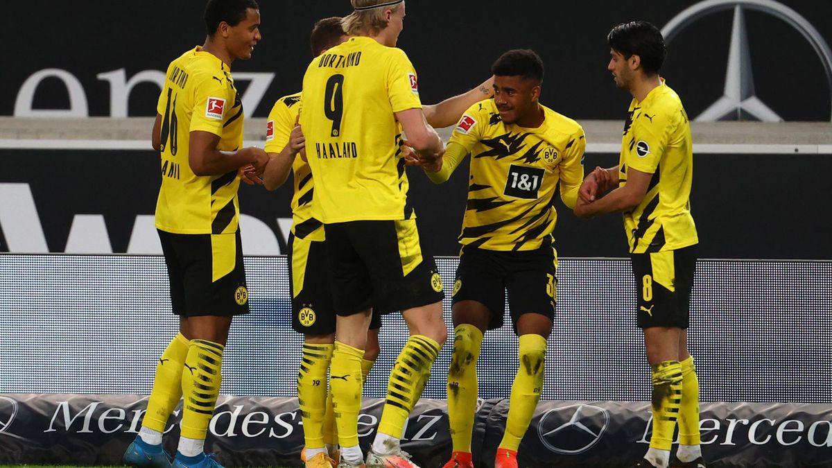 L'esultanza di Knauff, Stoccarda-Borussia Dortmund