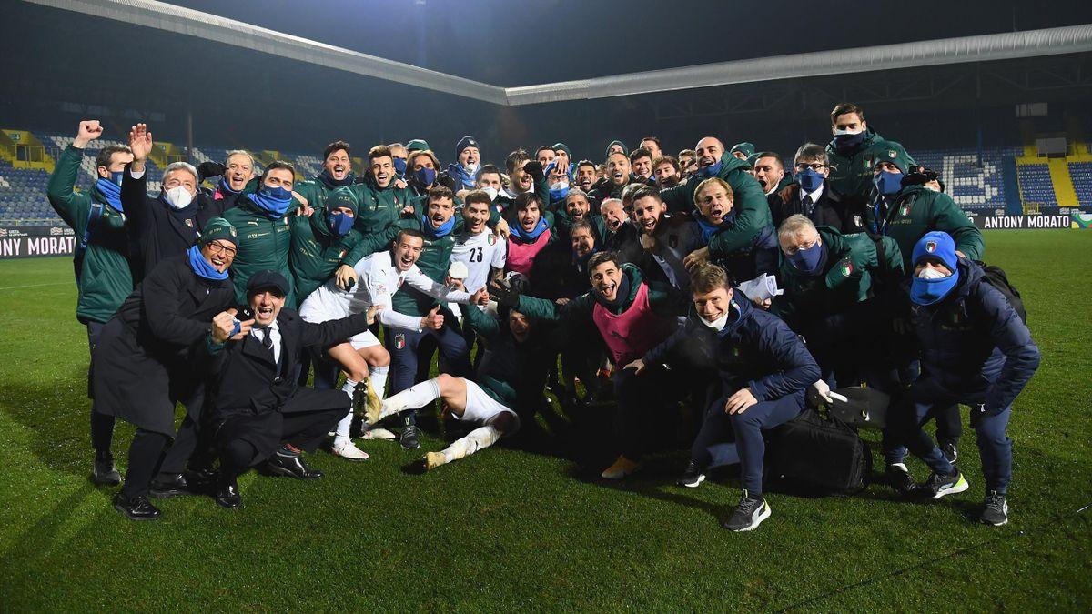 L'Italia festeggia la qualificazione alla Final Four di Nations League, Getty Images