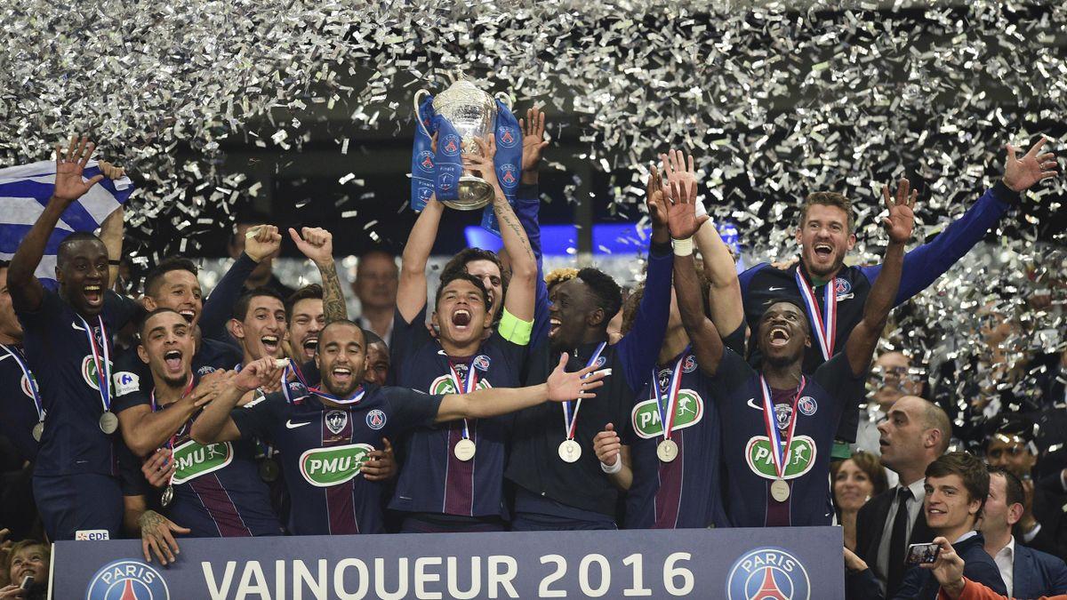 Les Parisiens avec la Coupe de France
