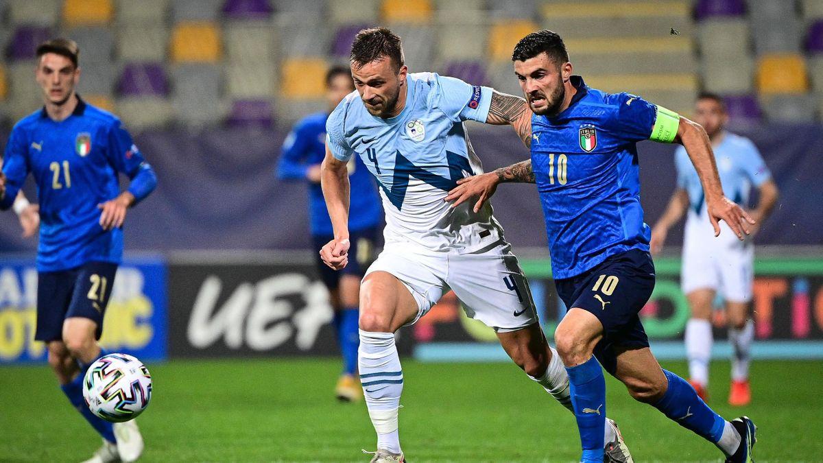 David Brekalo mot Italia U21 i mars
