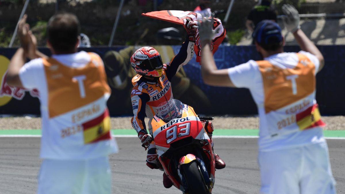 Marc Marquez (Honda HRC) au Grand Prix d'Espagne 2018