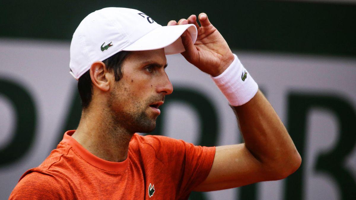 Novak Djokovic à Roland-Garros.