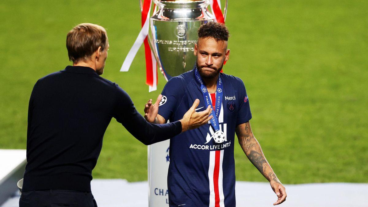 Ein Bild aus gemeinsamen Zeiten: PSG-Coch Tuchel und Neymar nach dem CL-Finale 2020