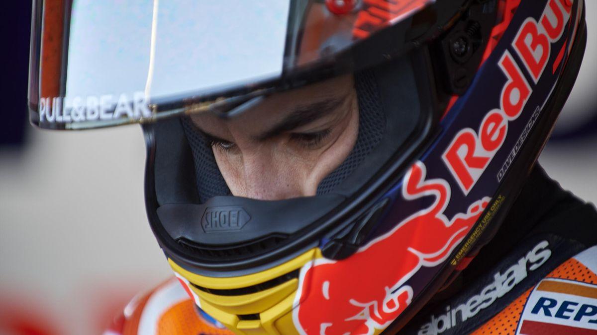 Marc Marquez (Honda HC) avant la qualification du Grand Prix de Valence 2019