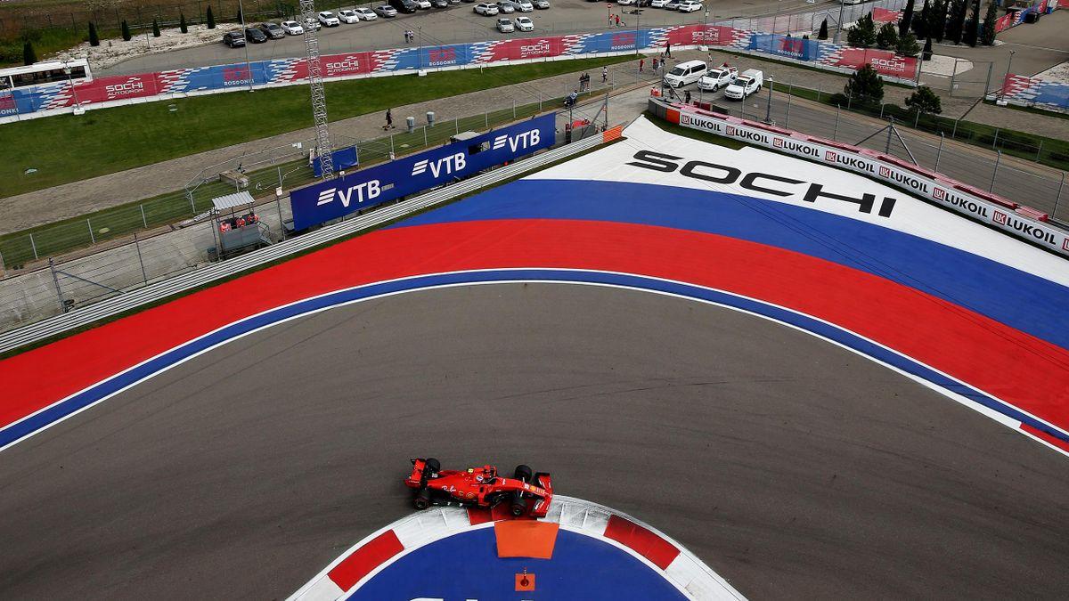 Charles Leclerc (Ferrari) au Grand Prix de Russie 2019