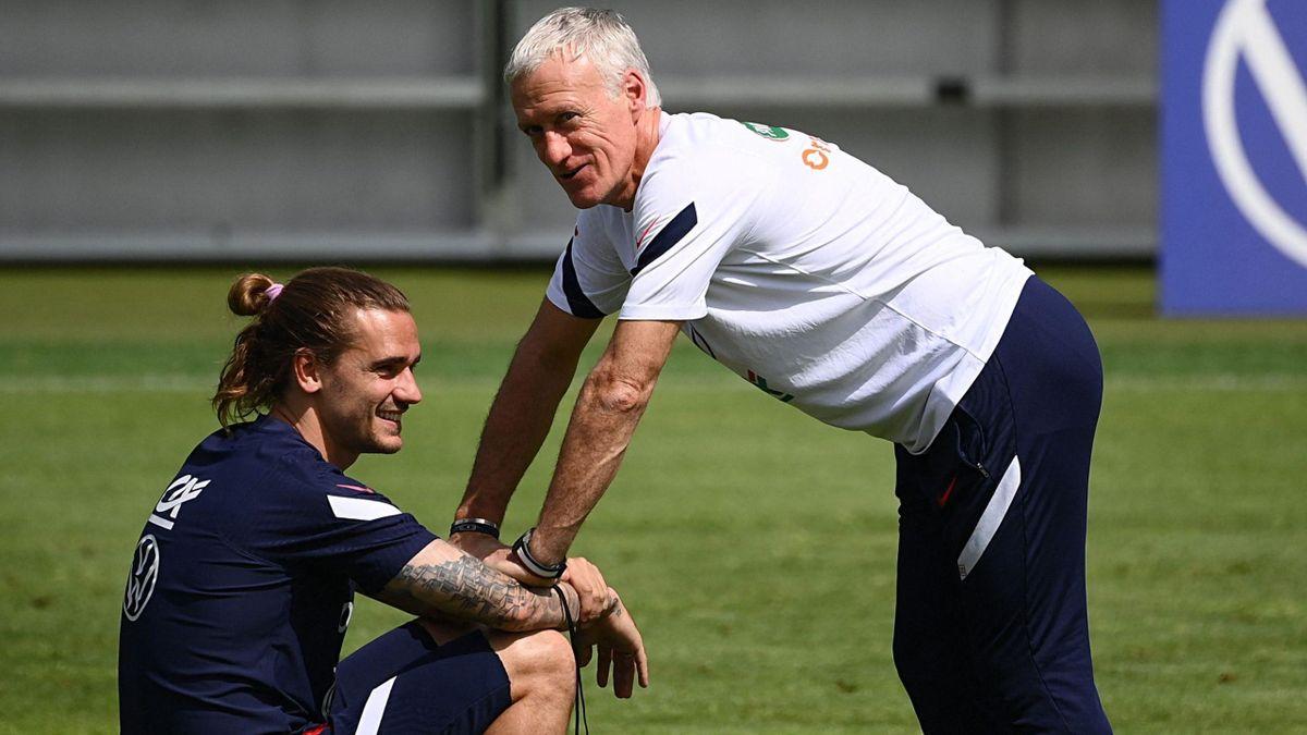 Antoine Griezmann and Didier Deschamps (France) / Euro 2020
