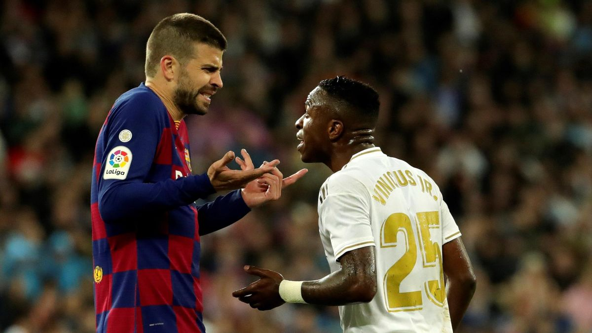 Vinicius (Real Madrid) and Pique (Barcelona) - La Liga 2020