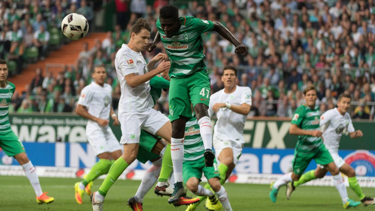 Werder Bremen gegen den VfL Wolfsburg