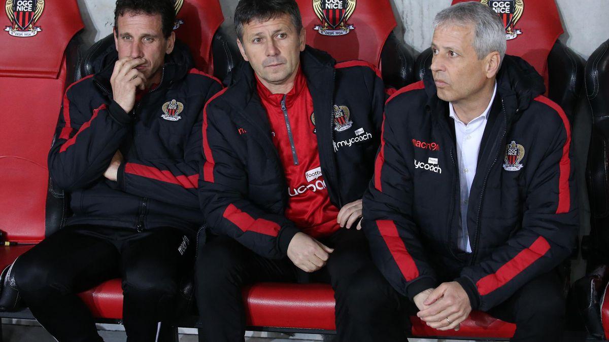 Adrian Ursea (în centru) este noul antrenor al lui Nice