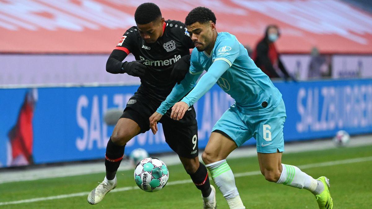 Bayer 04 Leverkusen gegen den VfL Wolfsburg