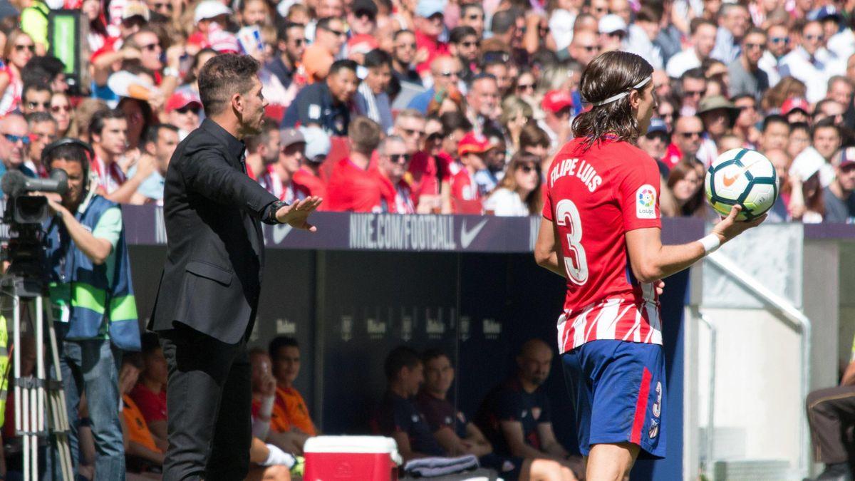Diego Pablo Simeone y Filipe Luis (Atlético de Madrid)