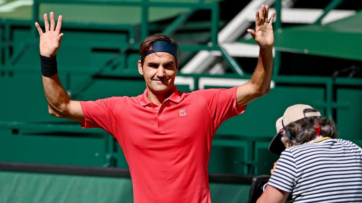 Roger Federer (ATP 500 Halle 2021)