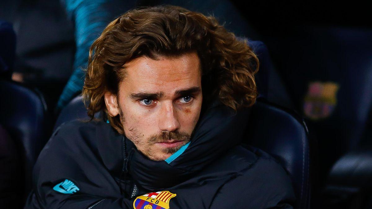Antoine Griezmann sur le banc du Barça