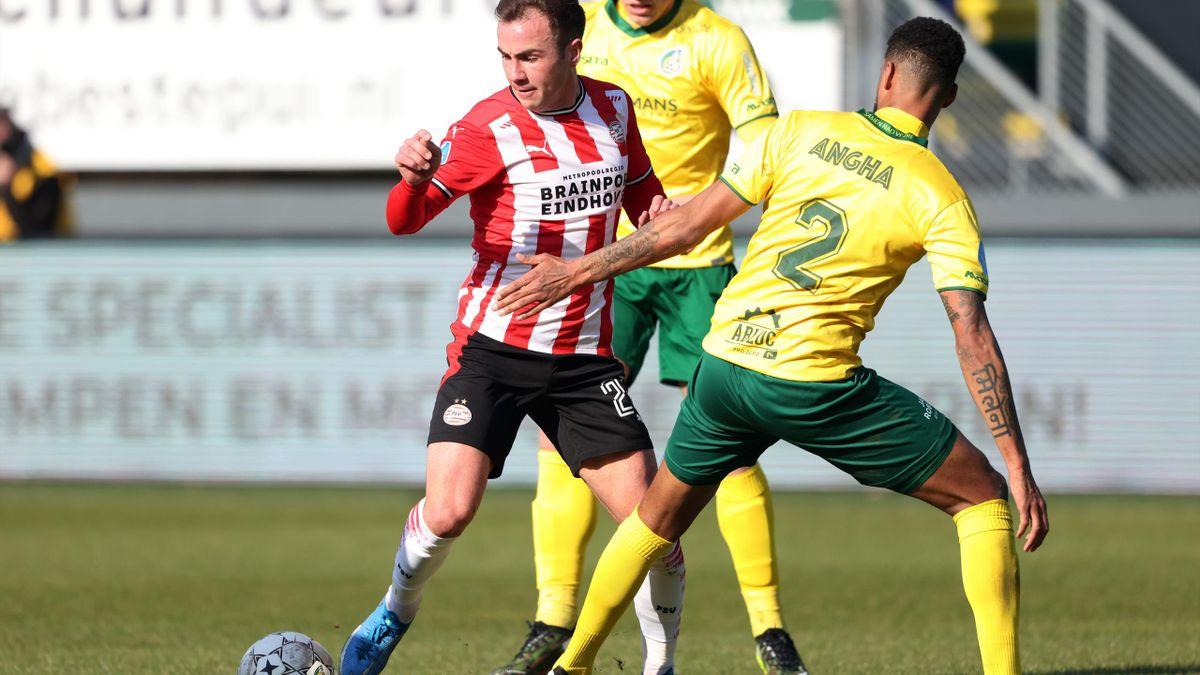 Eindhovens Mario Götze (links) im Spiel gegen Fortuna Sittard