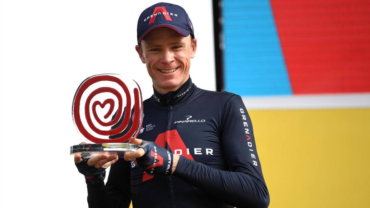 Christopher Froome of The United Kingdom and Team INEOS - Grenadiers / Trophy / Celebration / during the 75th Tour of Spain 2020, Stage 18 a 139,6km stage from Hipódromo de la Zarzuela to Madrid / @lavuelta / #LaVuelta20 / La Vuelta / on November 08, 2020