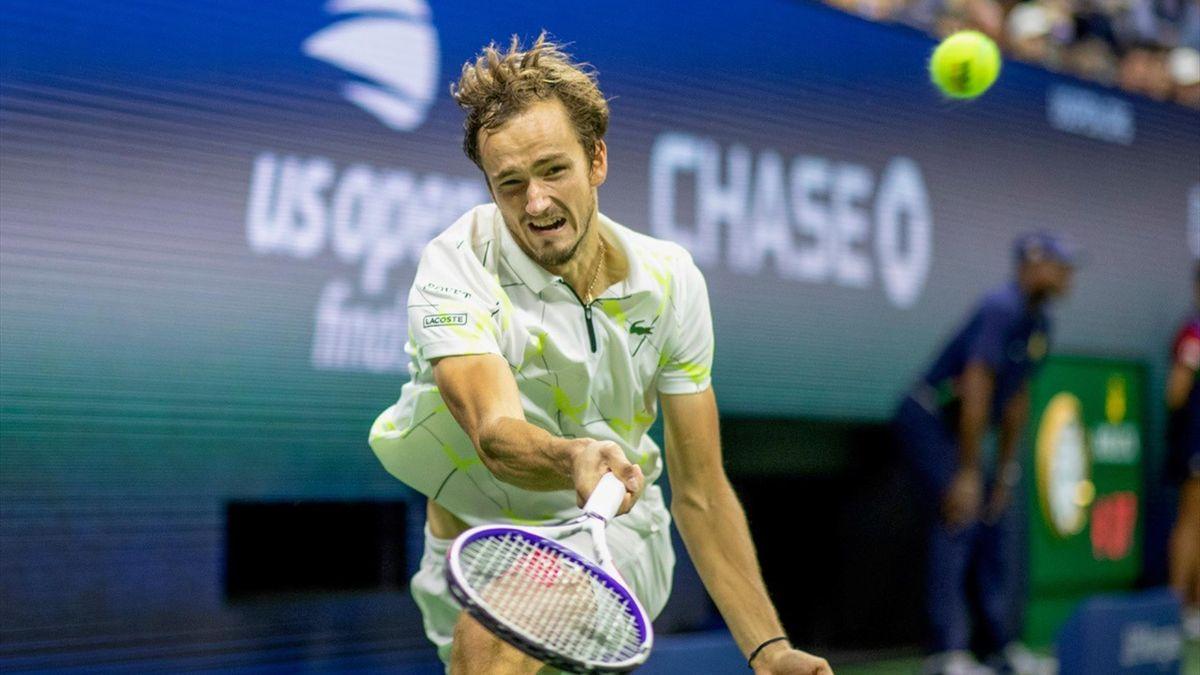 Medvedev in de US Openfinale 2019 tegen Nadal