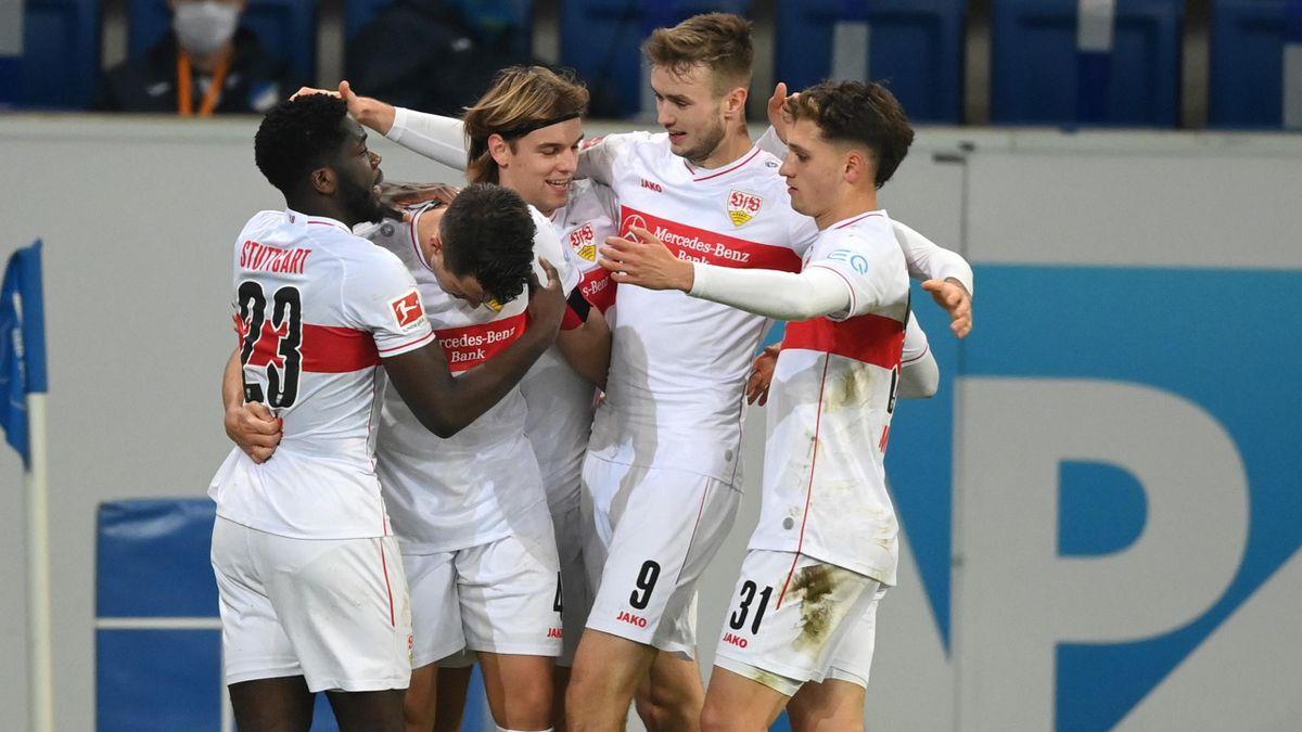 Jubel bei den Spielern des VfB Stuttgart