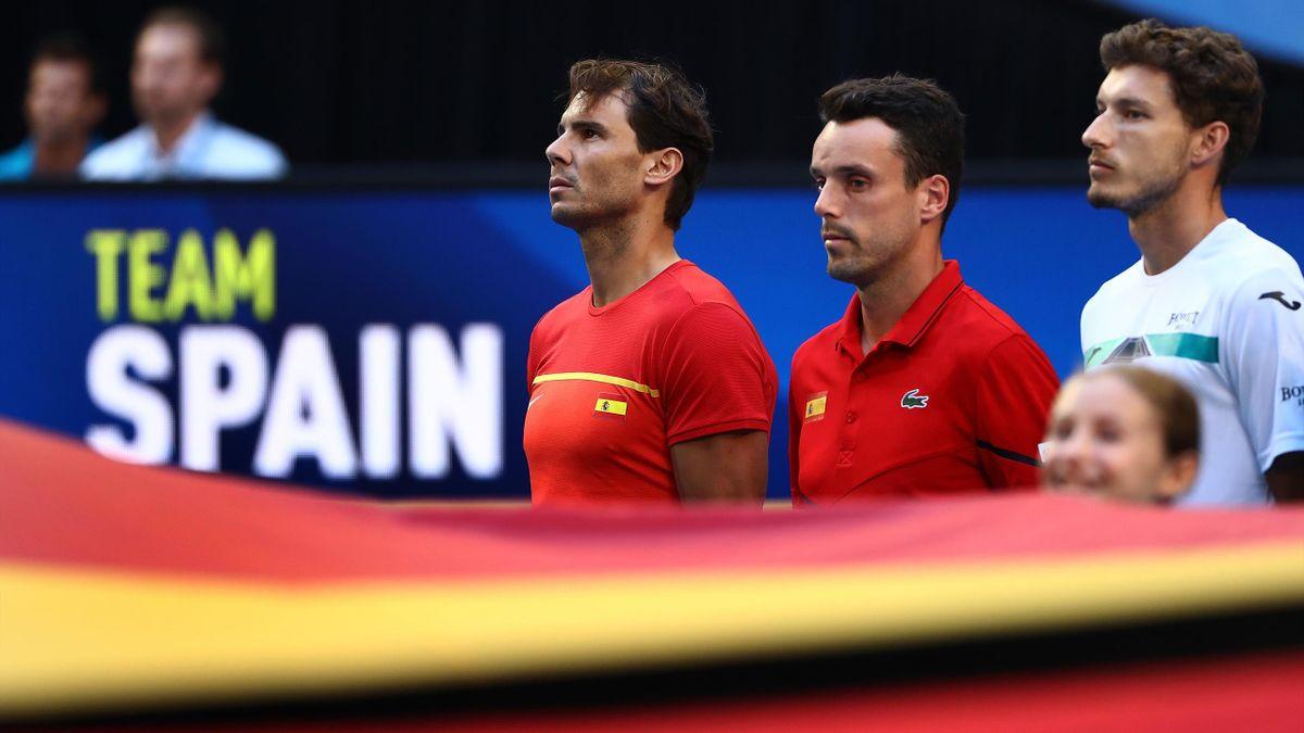 Rafael Nadal, Roberto Bautista y Pablo Carreño (España). ATP Cup 2020