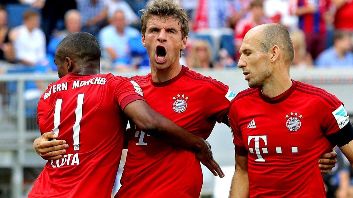 Immer da, wo er gebraucht wird: Bayern-Star Thomas Müller (Mitte)