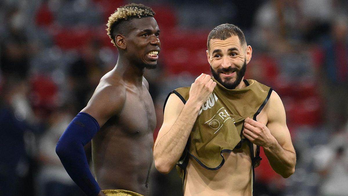 Paul Pogba and Karim Benzema