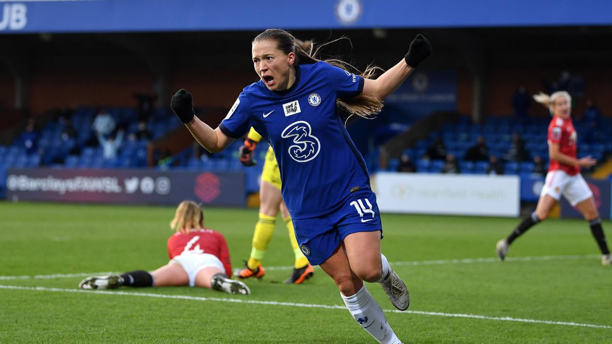 Fran Kirby of Chelsea celebrates, Chelsea v Manchester United, Barclays FA Women's Super League, Kingsmeadow, January 17, 2021
