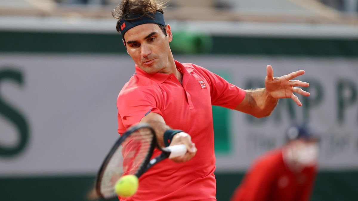 Roger Federer bei den French Open in Aktion