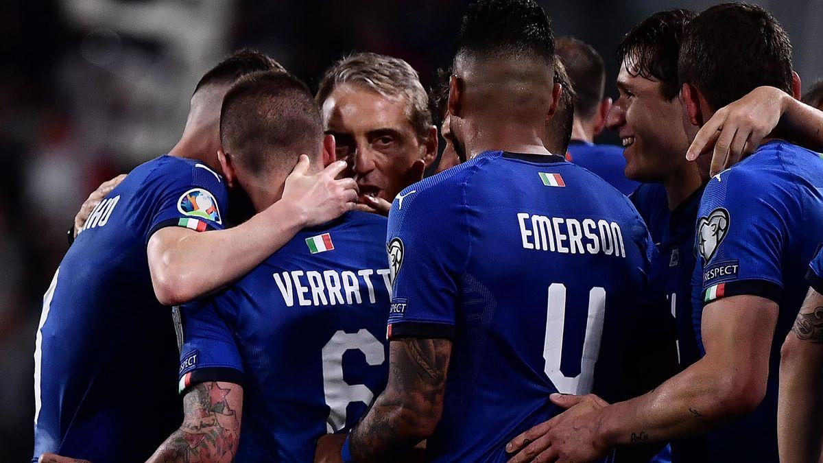 Verratti, Mancini - Italia-Bosnia - Getty Images