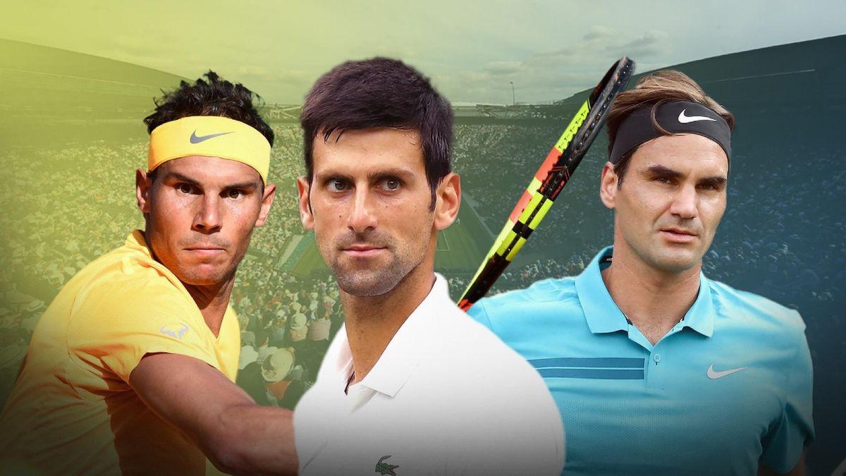 Rafael Nadal, Novak Djokovic et Roger Federer.