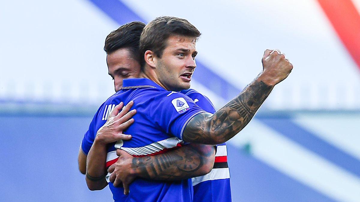 Sampdoria-SPAL 3-0: decidono una doppietta di Linetty e una punizione di Gabbadini - Eurosport